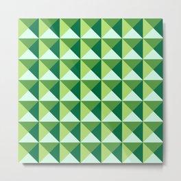 GEOMETRIC PATTERN, GREEN Metal Print