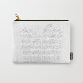 'Open Book' Cut Out Carry-All Pouch