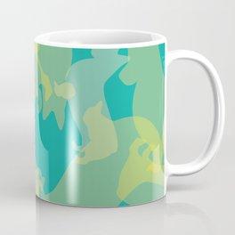 Blue & Yellow Corgi Pattern Coffee Mug