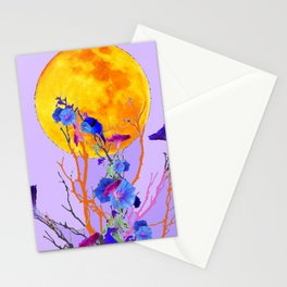 SURREAL LILAC MORNING GLORY FULL MOON Stationery Cards