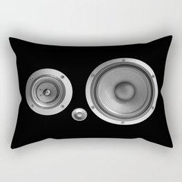 Subwoofer Speaker on black Rectangular Pillow