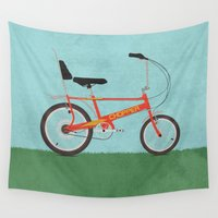 bicycles Wall Tapestries featuring Chopper Bike by Wyatt Design