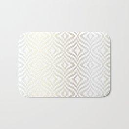 Silver Bargello Geometric Bath Mat