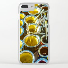 Mate Cups on Sale at Fair Street, Montevideo, Uruguay Clear iPhone Case