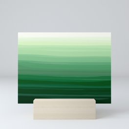 Green Emerald Gradient Color Blend Mini Art Print