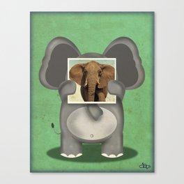 Real Elephant Canvas Print