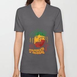 Dreadlocks n` Reggae Unisex V-Neck