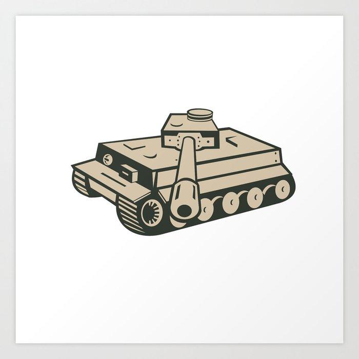 World War Two German Panzer Tank Aiming Art Print by patrimonio