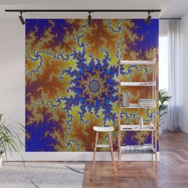 Fractal Checkerboard Wall Mural