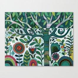 Leafy Garden Canvas Print