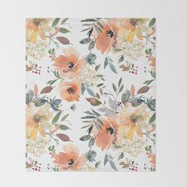 Peachy Keen Pattern Throw Blanket