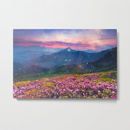 Blooming mountains Metal Print