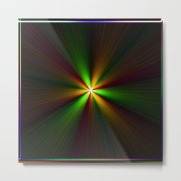 Abstract perfection - Spectrum Metal Print