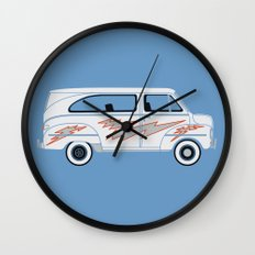 Grease Van Lightning Wall Clock