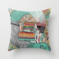 Las Garrapatas de Bruno Throw Pillow
