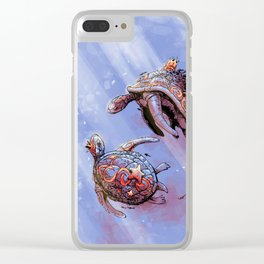 Turtle princess and prince Clear iPhone Case