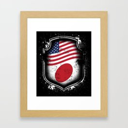 Japanese American Flag Framed Art Print