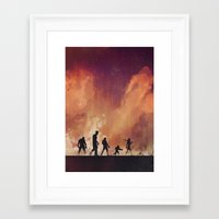 guardians of the galaxy Framed Art Prints featuring Guardians of the Galaxy by Brandi Kenney