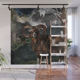 Aries the Ram Wall Mural