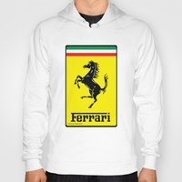ferrari Hoodies featuring FERRARI by Smart Friend