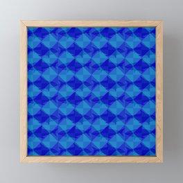 Blue Shark Square. Framed Mini Art Print