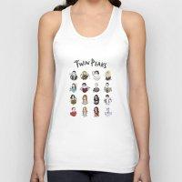 twin peaks Tank Tops featuring twin peaks by Bunny Miele