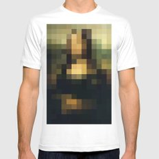 Buy pixels don't buy art Mens Fitted Tee MEDIUM White