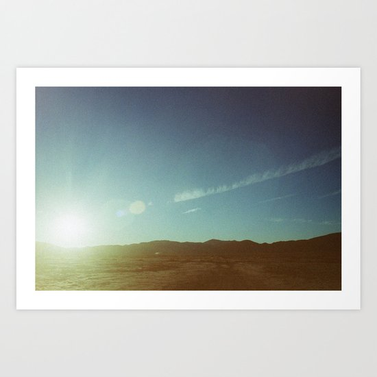 sending sun Art Print