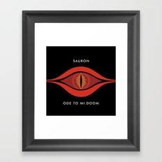 Ode To Mt. Doom Framed Art Print