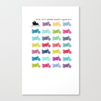 motorbike Canvas Prints featuring motorbike summer by GO-BIKE-GO