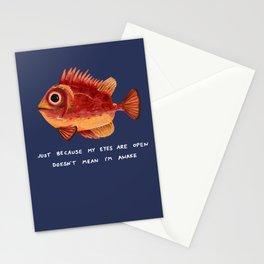 Not Awake Fish Stationery Cards