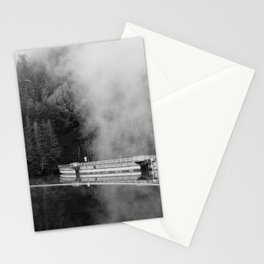 Misty Lake in black and white - 35mm film Stationery Cards