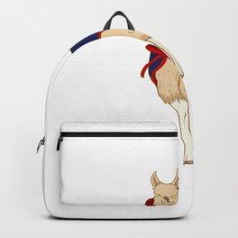 Cute Vampire Llama Halloween Funny Vampire-Llama Backpack