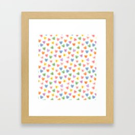Conversation Hearts Framed Art Print