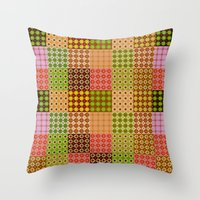 quilt Throw Pillows featuring quilt by Isabella Asratyan