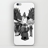 regular show iPhone & iPod Skins featuring Regular by Duane Marquez