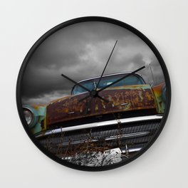 A Classic and a Stormy Sky Wall Clock