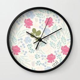 Ella Floral Pattern Wall Clock