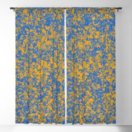 Abstract color mix Pollock 2 Blackout Curtain