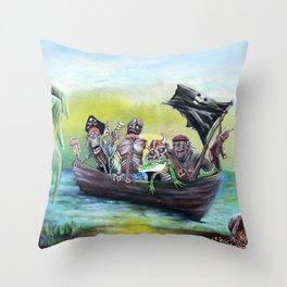 Pirate Booty Beach Throw Pillow