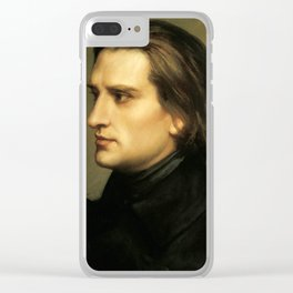 Franz Liszt (1811-1886) at 29. Painting by Charles Laurent Marechal (1801-1887). Clear iPhone Case