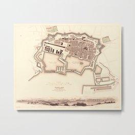 Map Of Toulon 1840 Metal Print