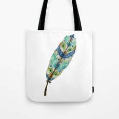 Seaside Feather Tote Bag