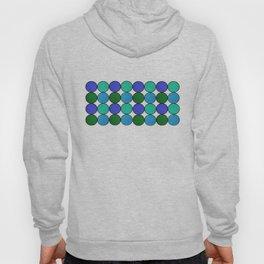 Polka Brights (blue/green) Hoody