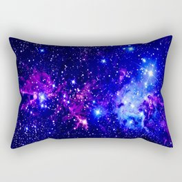 Fox Fur Nebula Galaxy blue purple Rectangular Pillow