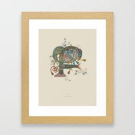 Celtic Initial F Framed Art Print