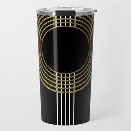 GUITAR IN ABSTRACT (geometric art deco) Travel Mug