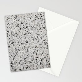 Black and white granite Stationery Cards