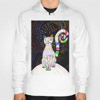space cat Hoodies featuring Space cat by ezgi karaata