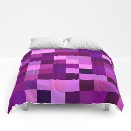 Deep purple mosaic Comforters